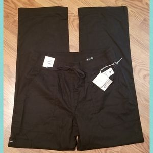 Black Knit Cargo Style Pants By Koi